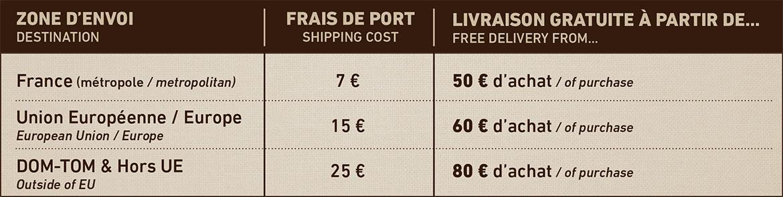 Saveurs et nature modalit s de livraisons - Frais de port gratuit rue du commerce ...